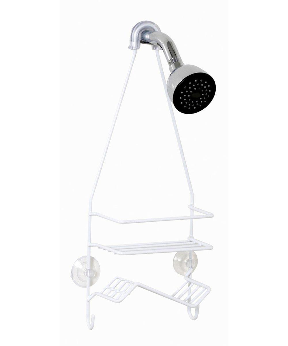 White Shower Head Caddy