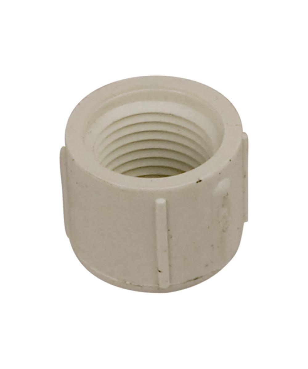 1/2 in. PVC Cap, FPT, Schedule 40, 10 Pack