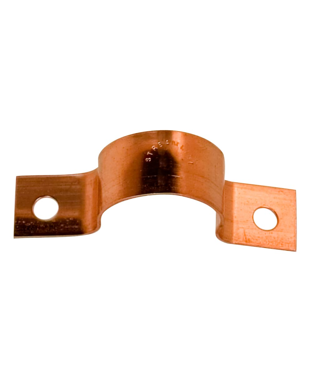 1/2 in. Copper Tube Strap, Two-Hole, 5 Pack