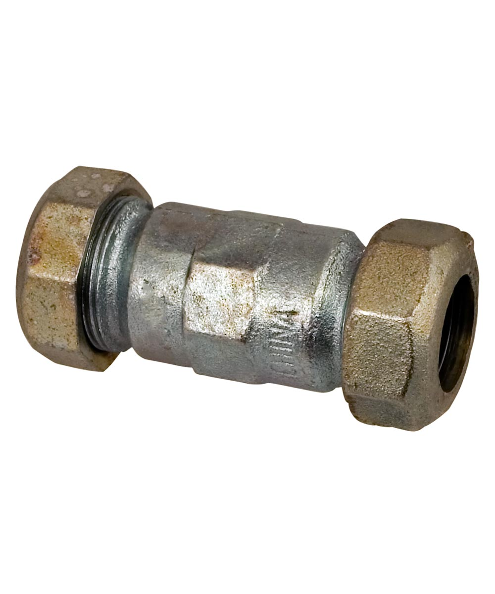 1/2 in. Galvanized IPS Long Compression Coupling