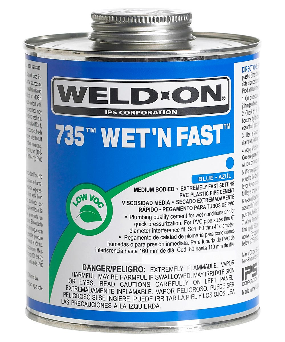 1/4 Pint Blue 735 Wet 'N Fast