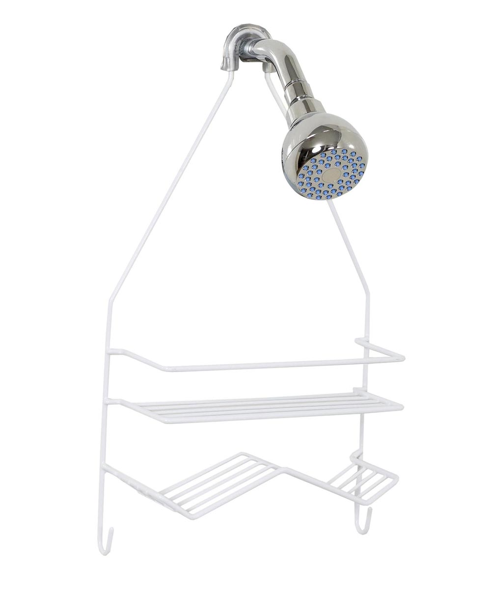 Large Wire Hanging Shower Caddy, White