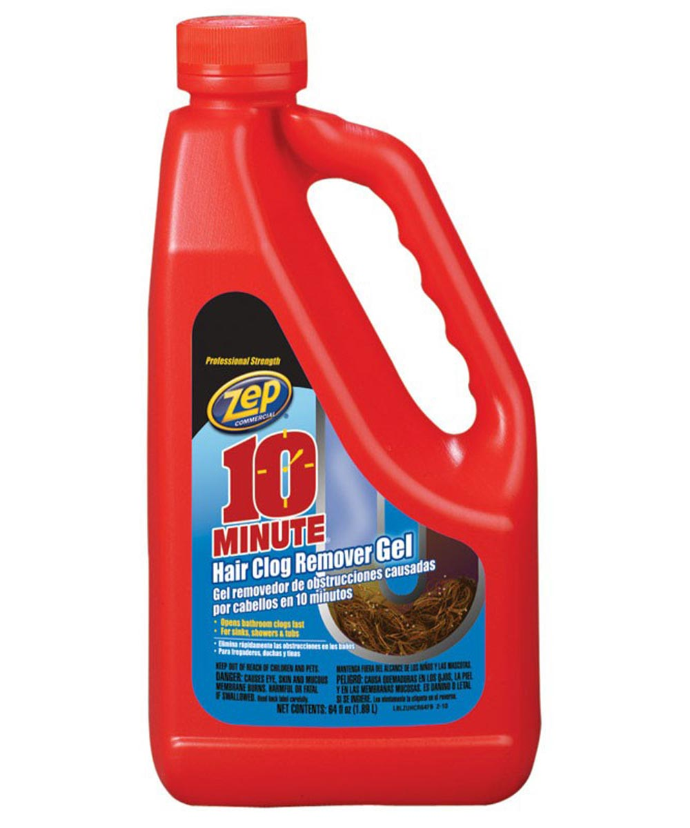 Zep 10 Minute Hair Clog Remover, 64 oz.