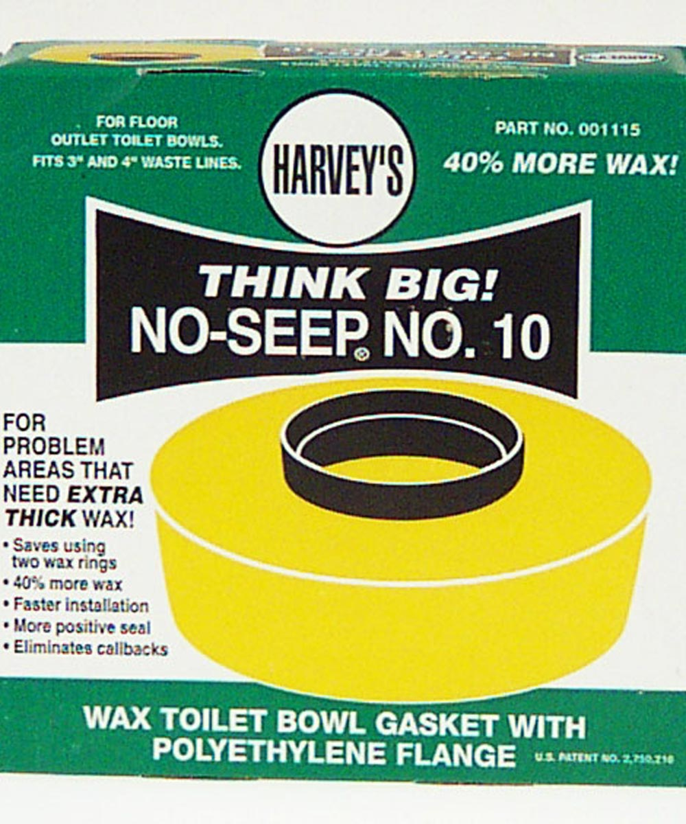 Wax Toilet Bowl Gasket With Polyethylene Flange
