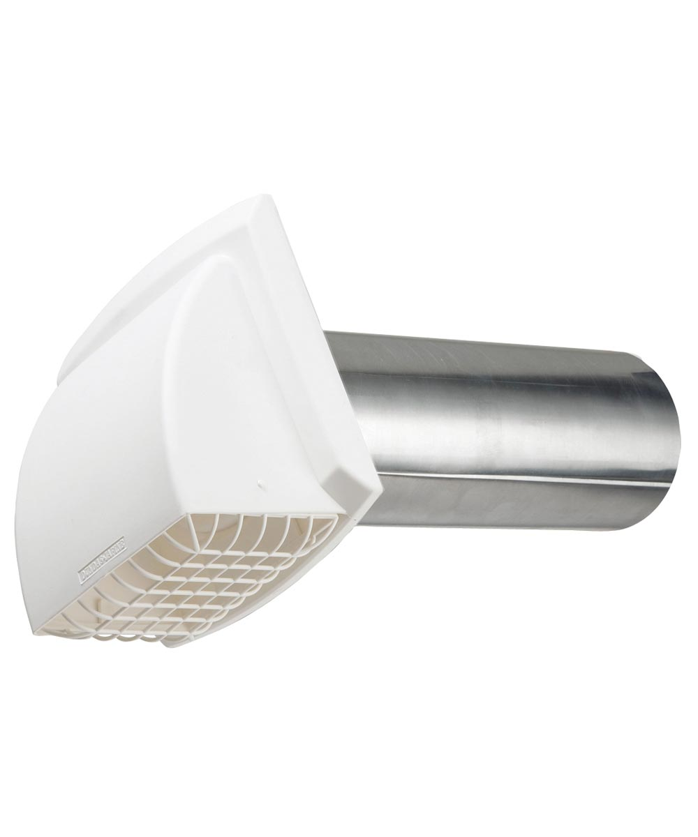4 in. White Maxi-Flow Wide Mouth Exhaust Hood