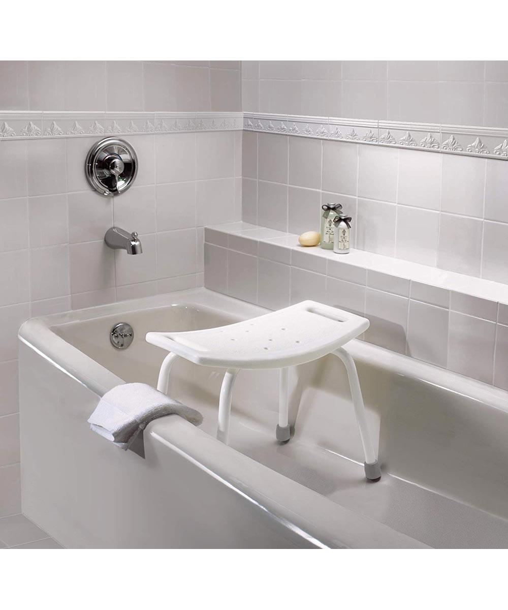 Home Care Adjustable Shower Seat, Glacier White