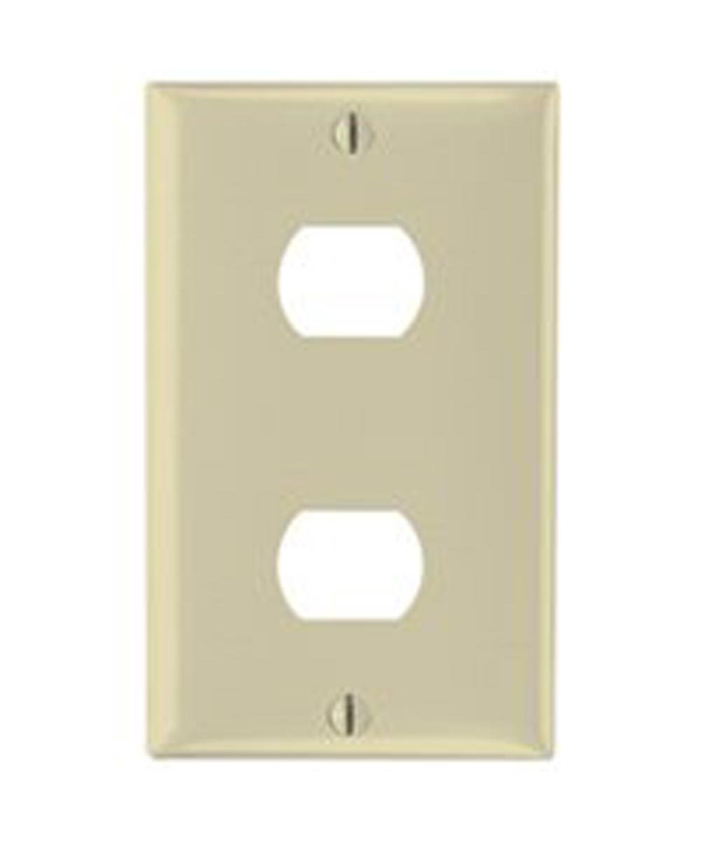 Despard 2-Hole Standard Wall Plate, 1 Gang, 4-1/2 in. (L) x 2-3/4 in. (W) x 0.07 in. (T), Ivory