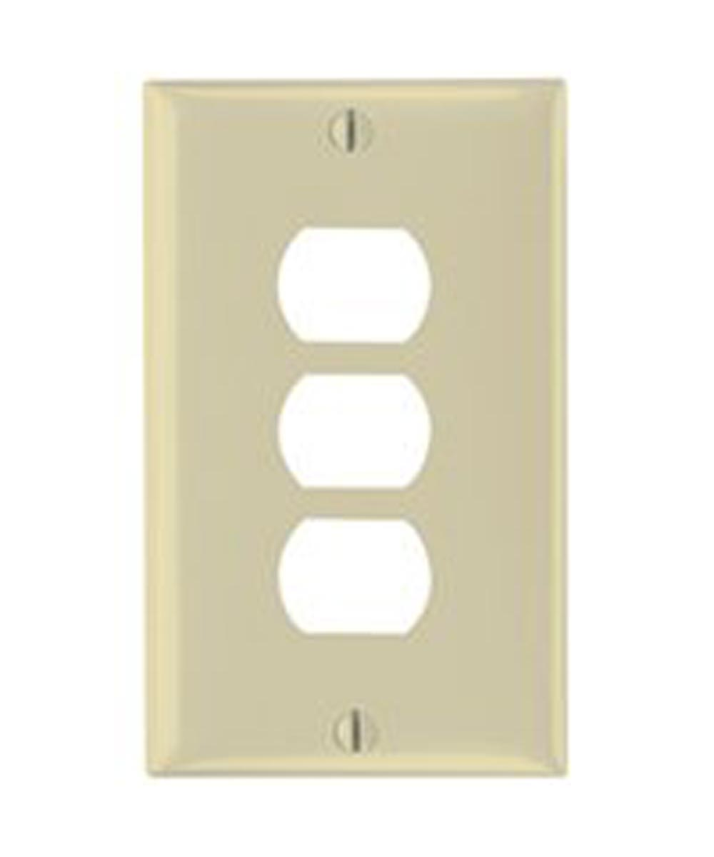 Despard 3-Hole Standard Wall Plate, 1 Gang, 4-1/2 in. (L) x 2-3/4 in. (W) x 0.07 in. (T), Ivory