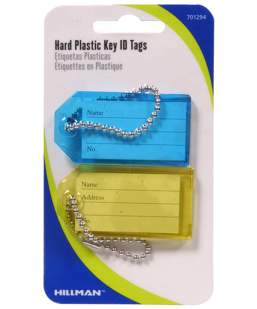 Hard Plastic Key Tag with Chain