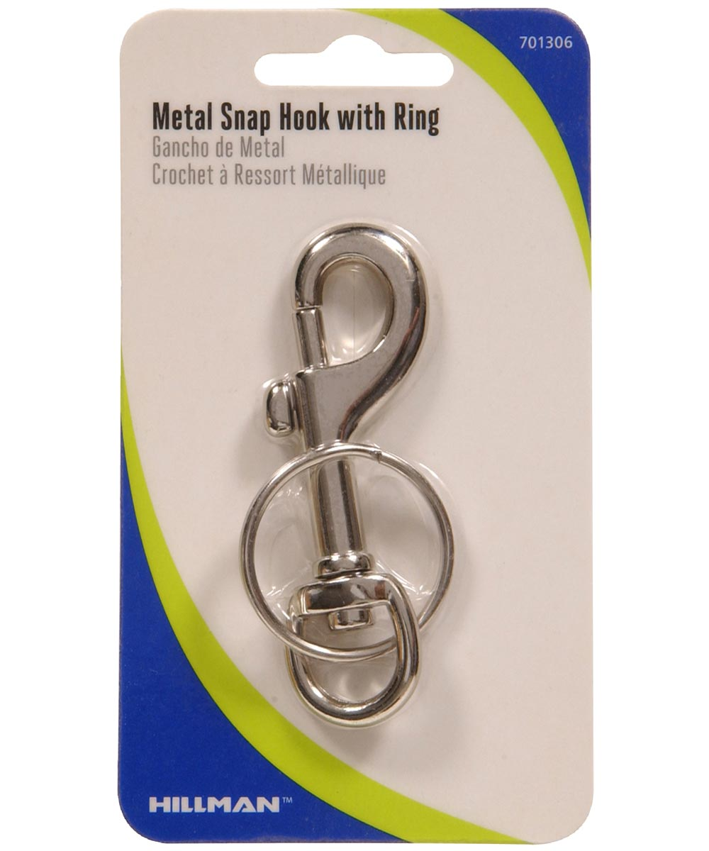 Metal Snap Hook With Key Ring