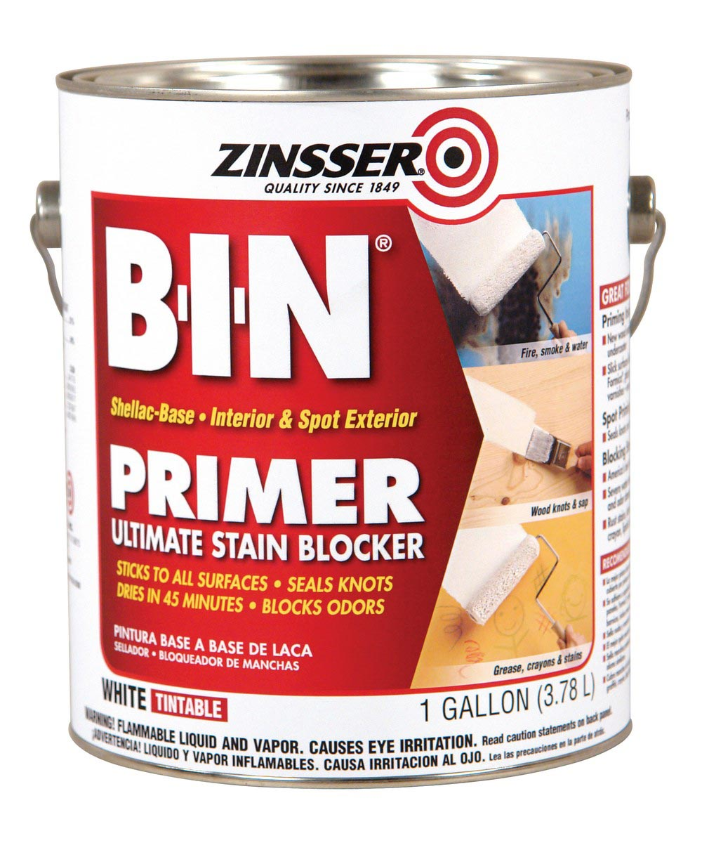 1 Gallon Zinsser B-I-N Shellac-Base White Primer