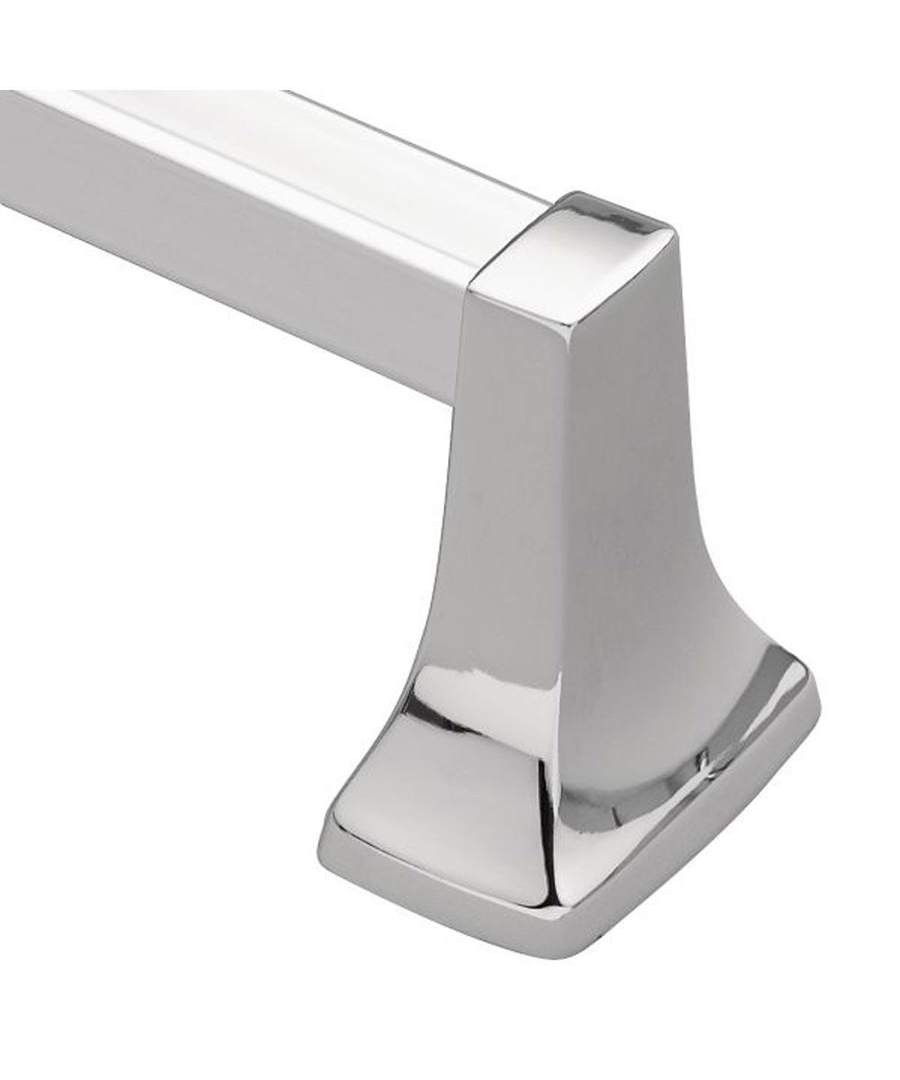 Contemporary 24 Inch Towel Bar, Chrome