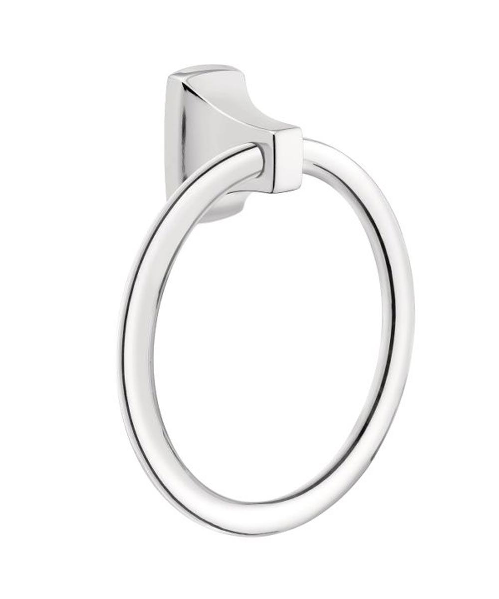 Contemporary Towel Ring, Chrome