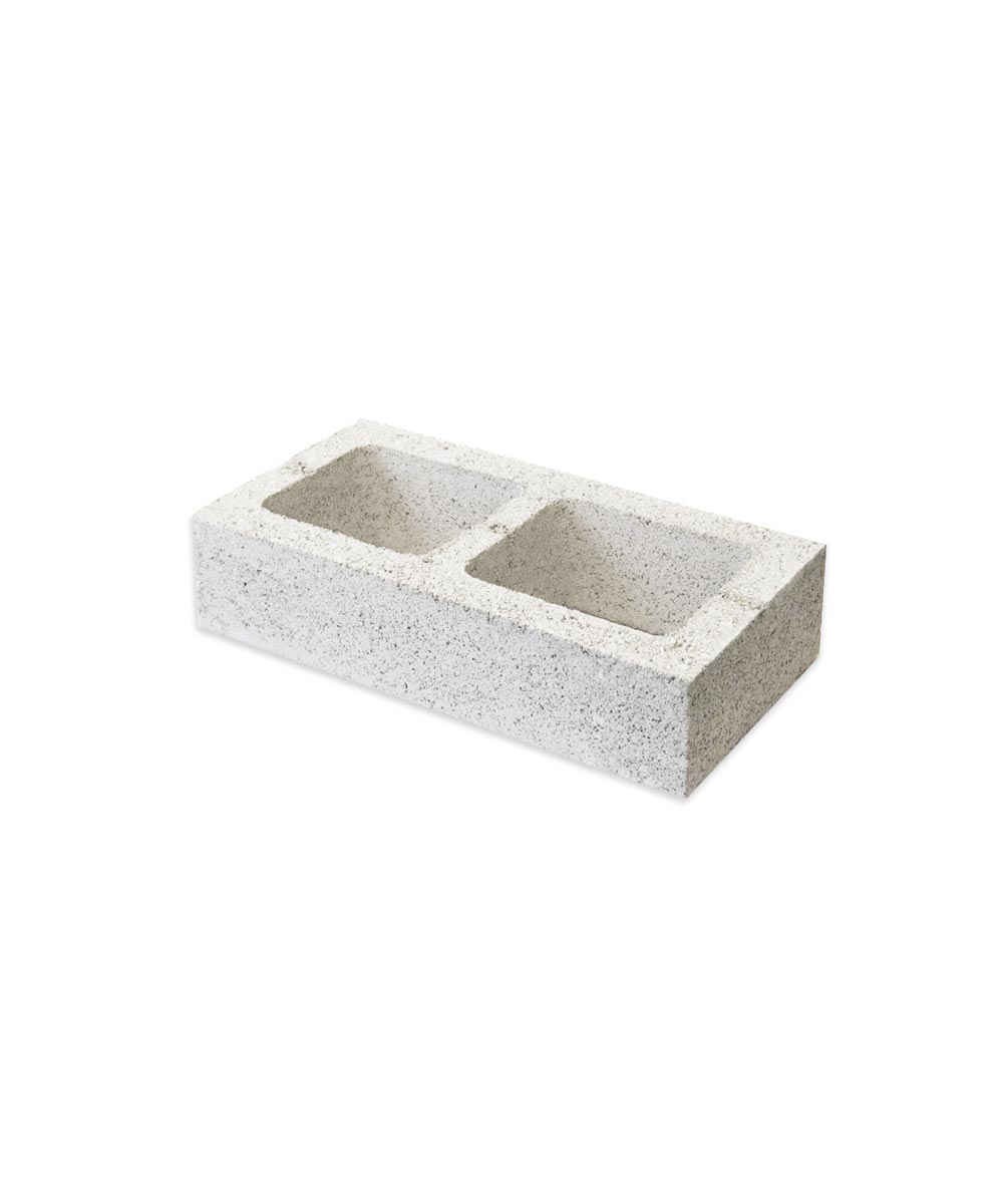 8 in. x 4 in. x 16 in. Gray Double Solid End Concrete Block