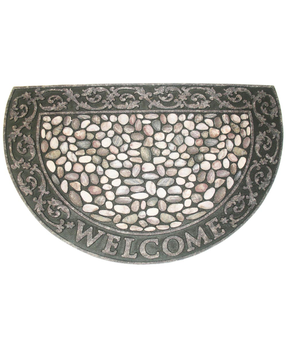 J & M Home Fashions Welcome Pebbles Doormat 23x35 1/2 Rd