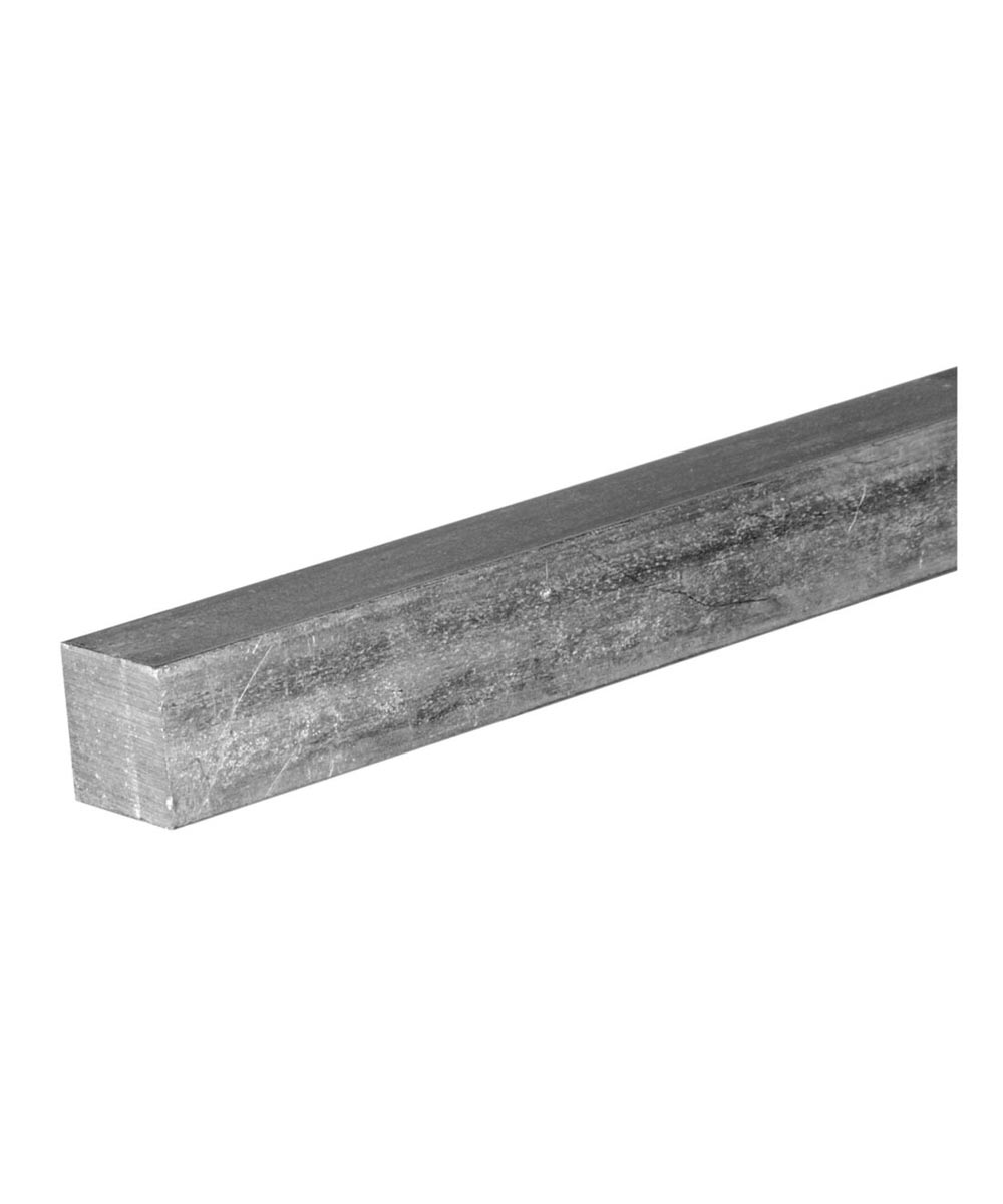 The Steel Works Solid Zinc Square Key Stock 1/8 in. x 1 ft.