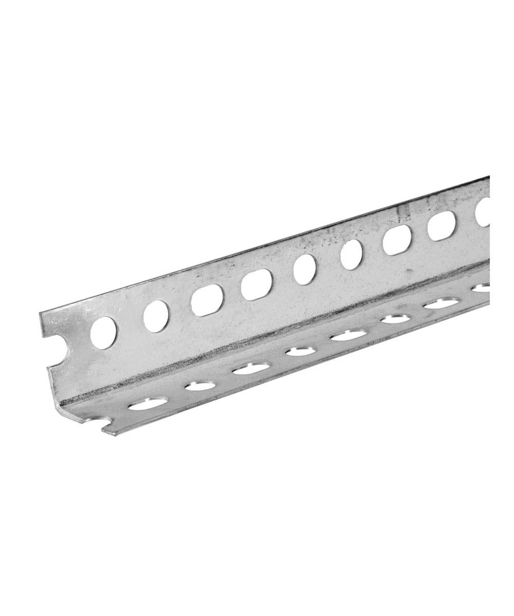 The Steel Works Slotted Zinc Angle 1-1/4 in. x 1-1/4 in. x 4 ft.