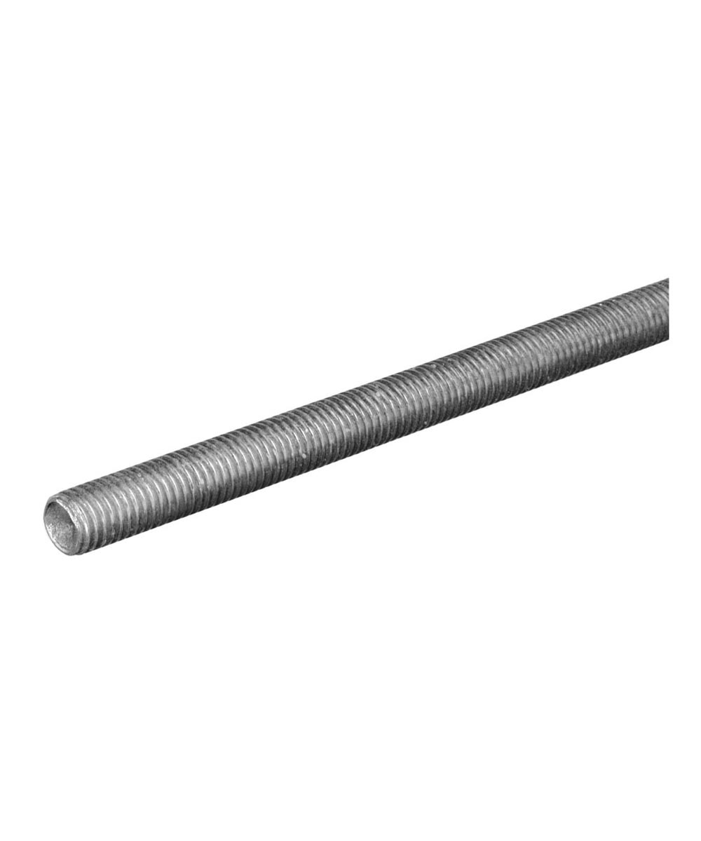 The Steel Works Zinc Threaded Coarse Rod 1/2-13 x 1 ft.