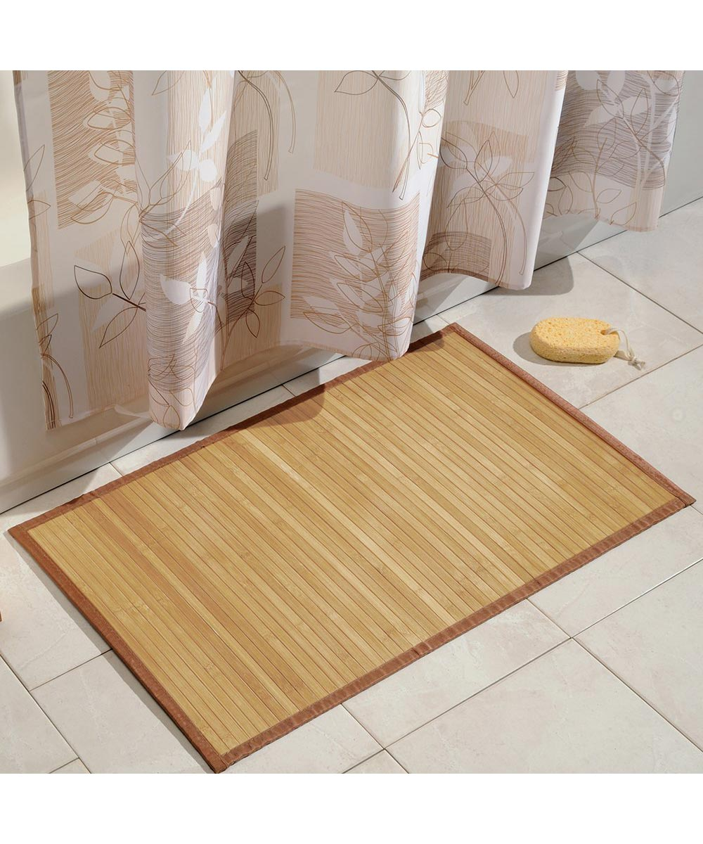 Bamboo Floor Mat, Natural Color, 21x34 Inches