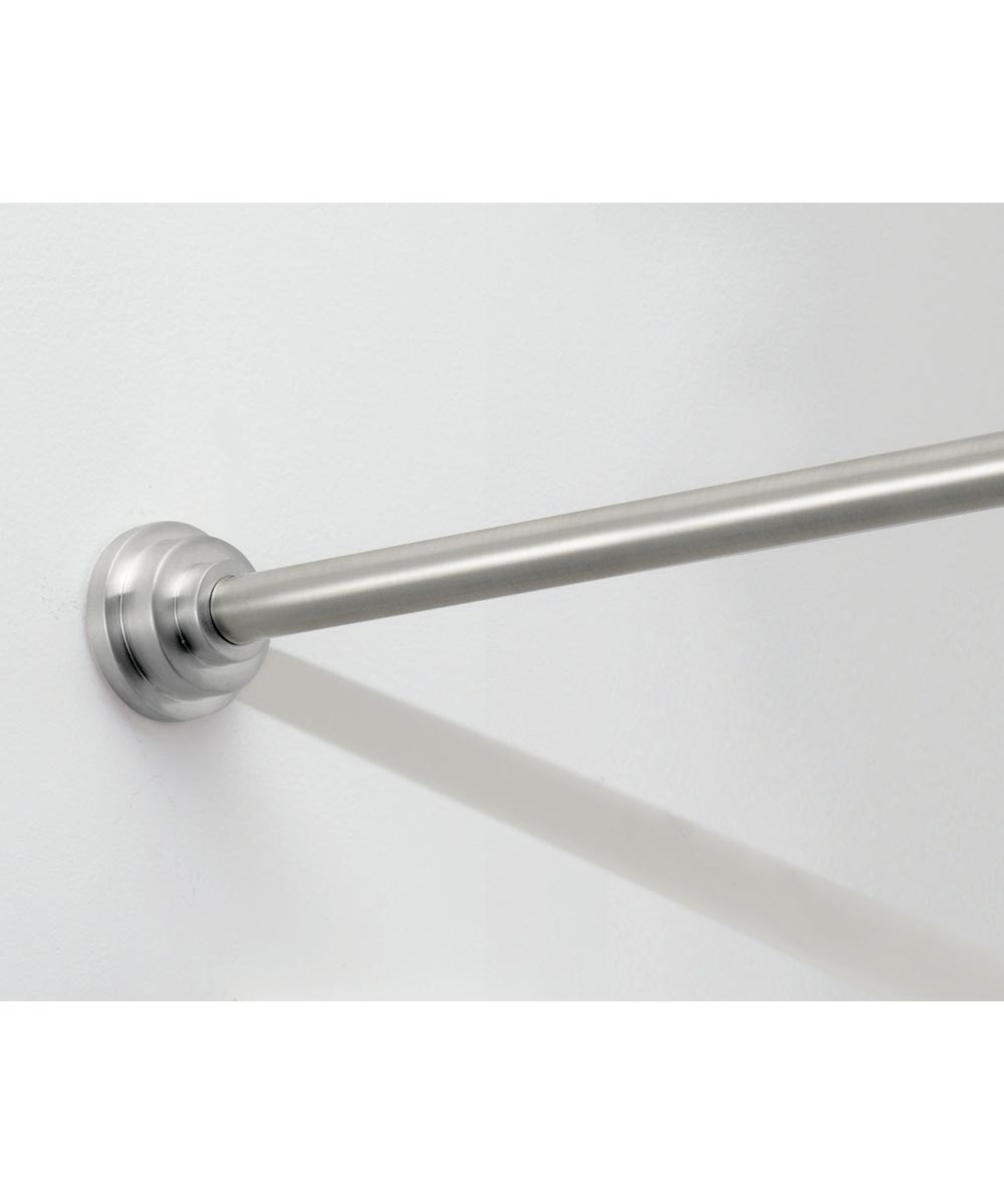 43 in.-75 in. Brushed Stainless Steel Astor Shower Curtain Tension