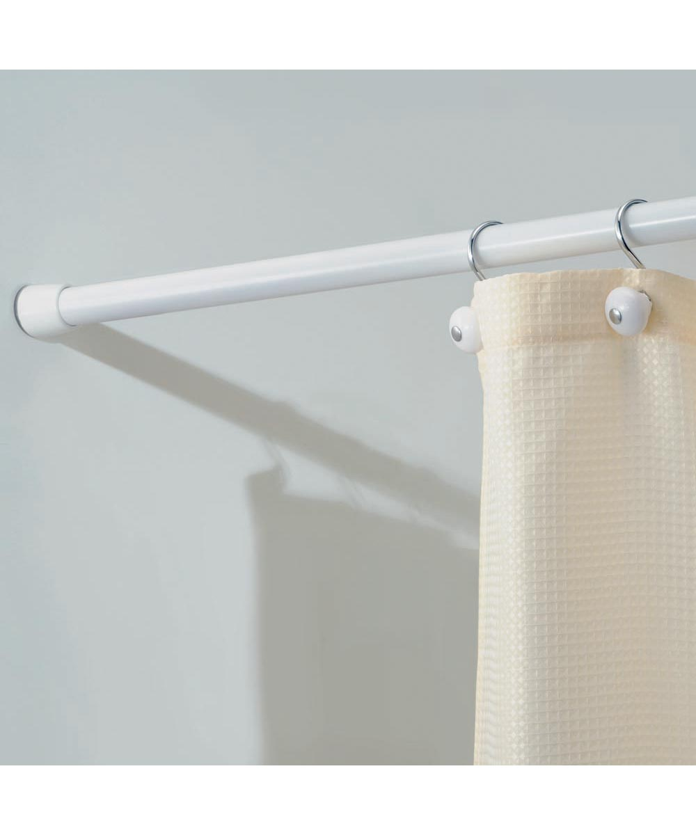 Cameo Shower Curtain Tension Rod, 26-42 Inches, White