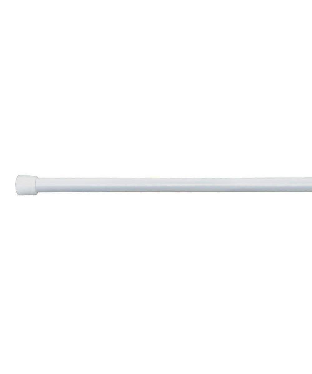 Cameo Shower Curtain Tension Rod, 50-87 Inches, White