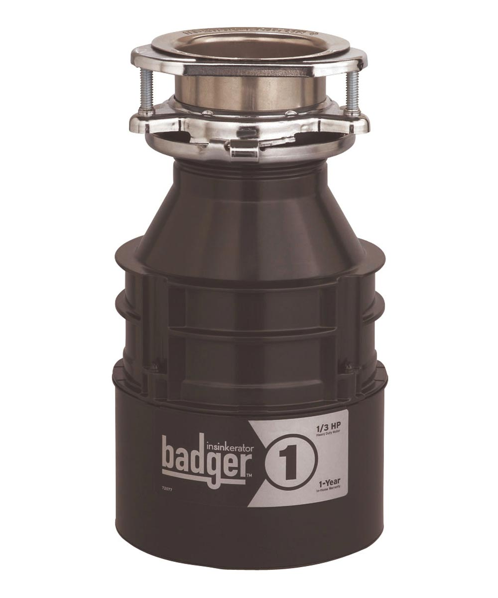 InSinkErator Badger 1 Garbage Disposal, 1/3 HP