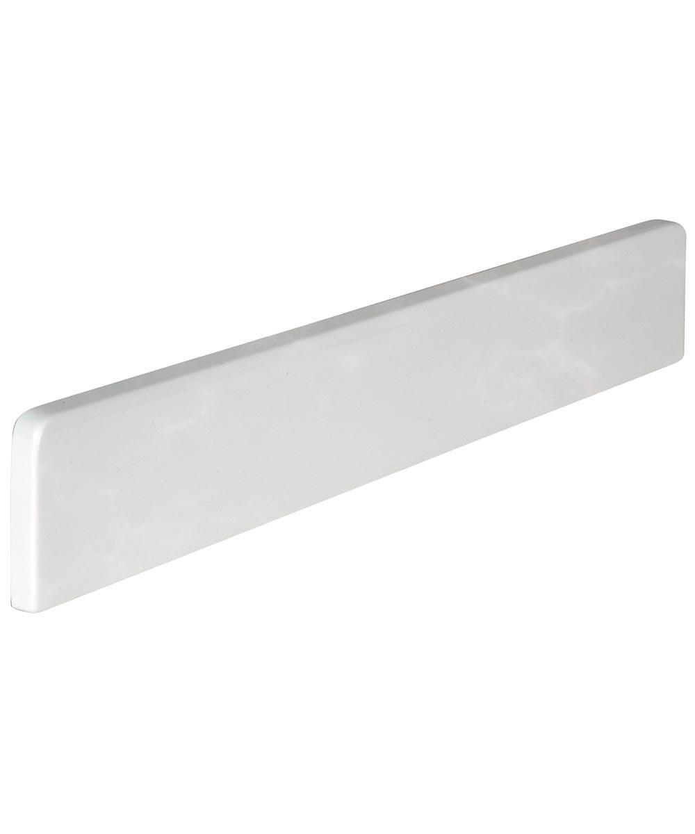 22 in. White Reversible Side Splash