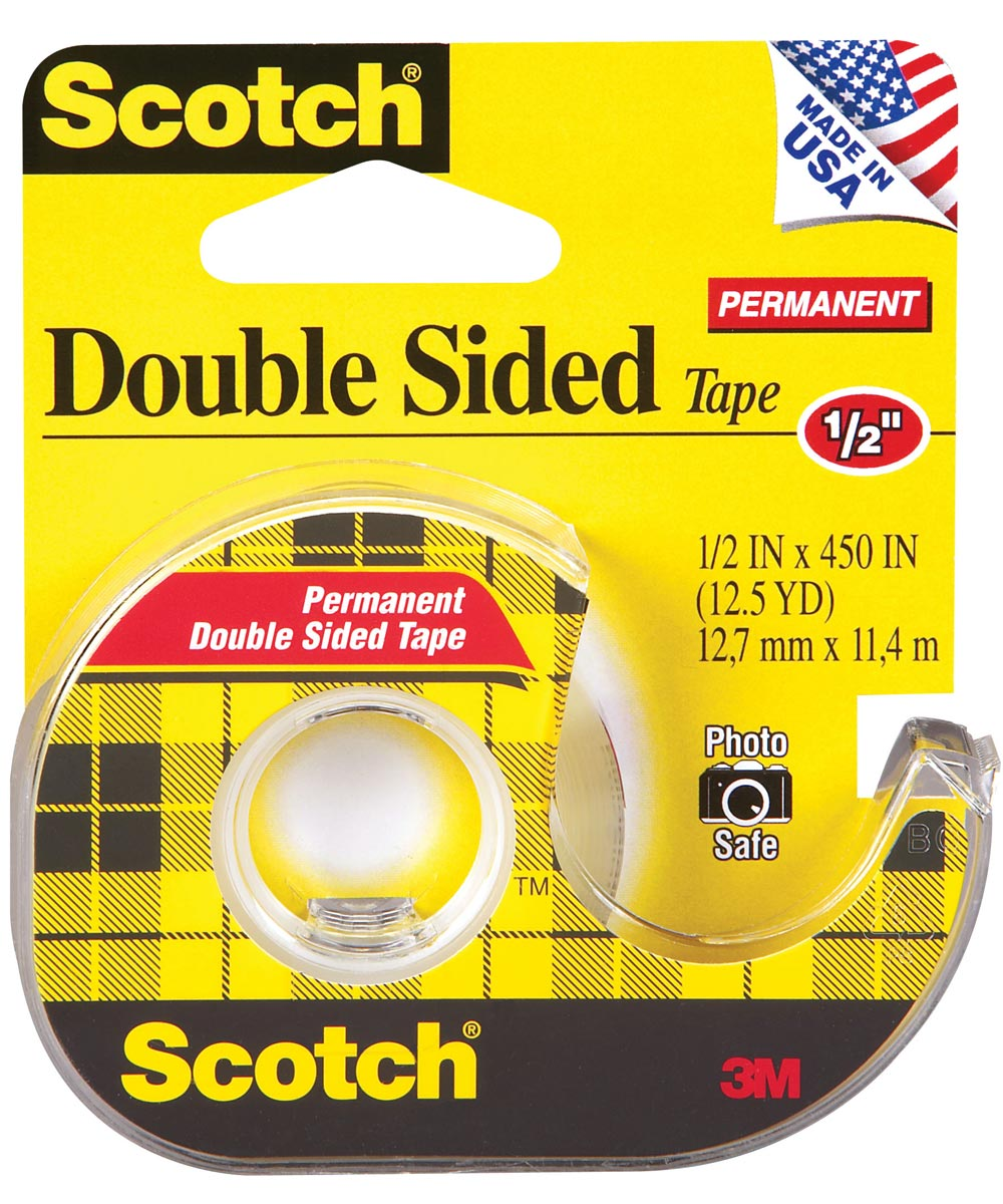 1/2 in. Scotch Double Sided Tape With Dispenser