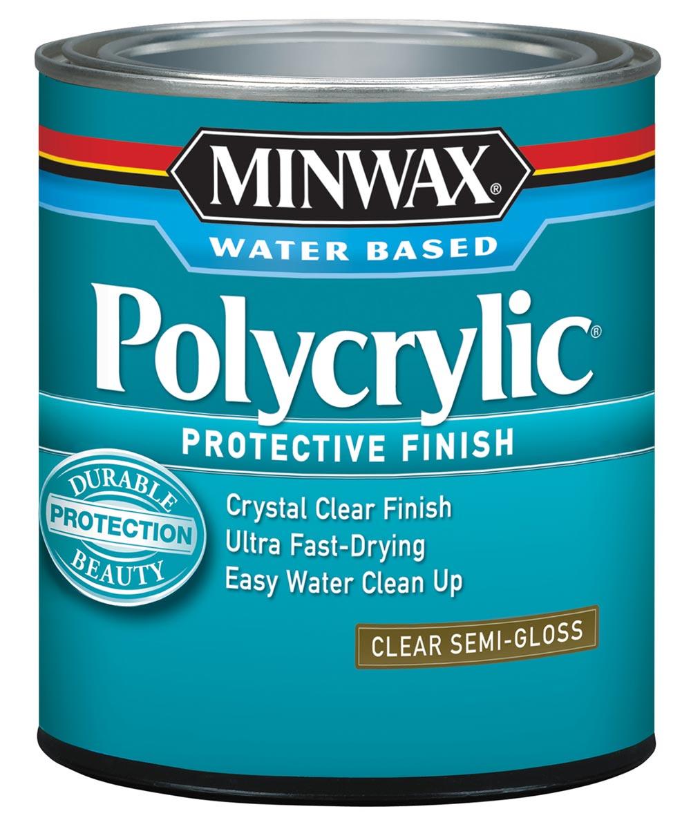 1 Qt Clear Semi-Gloss Polycrylic Protective Finish
