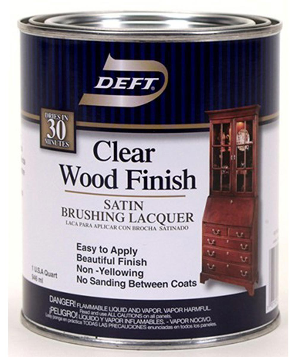 1 Quart Satin Clear Wood Finish Brushing Lacquer