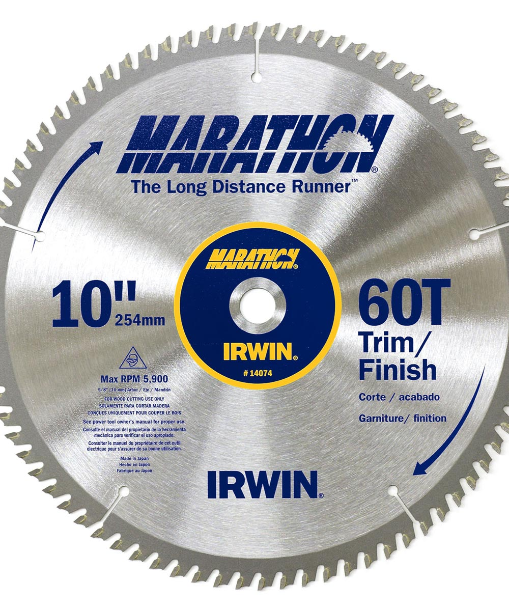 10 in. 60 TPI Marathon Miter & Table Saw Blades