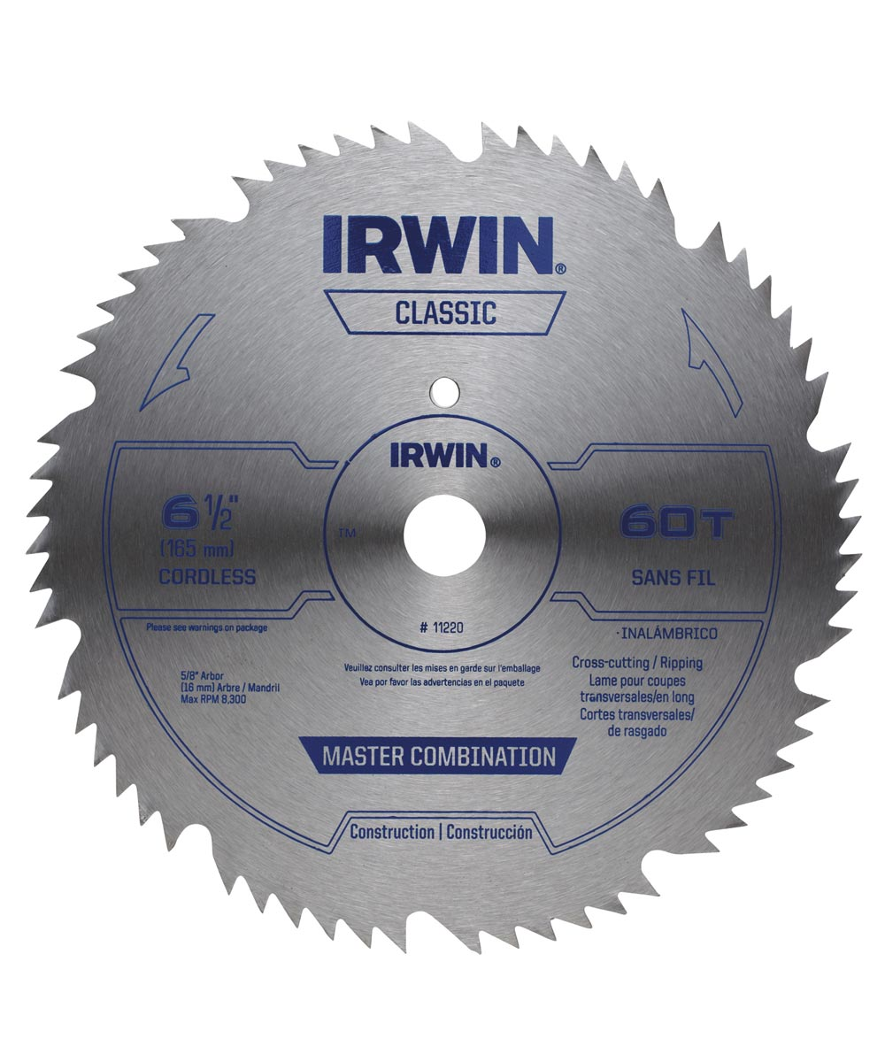 6-1/2 60 Tooth Steel Circular Saw Blade