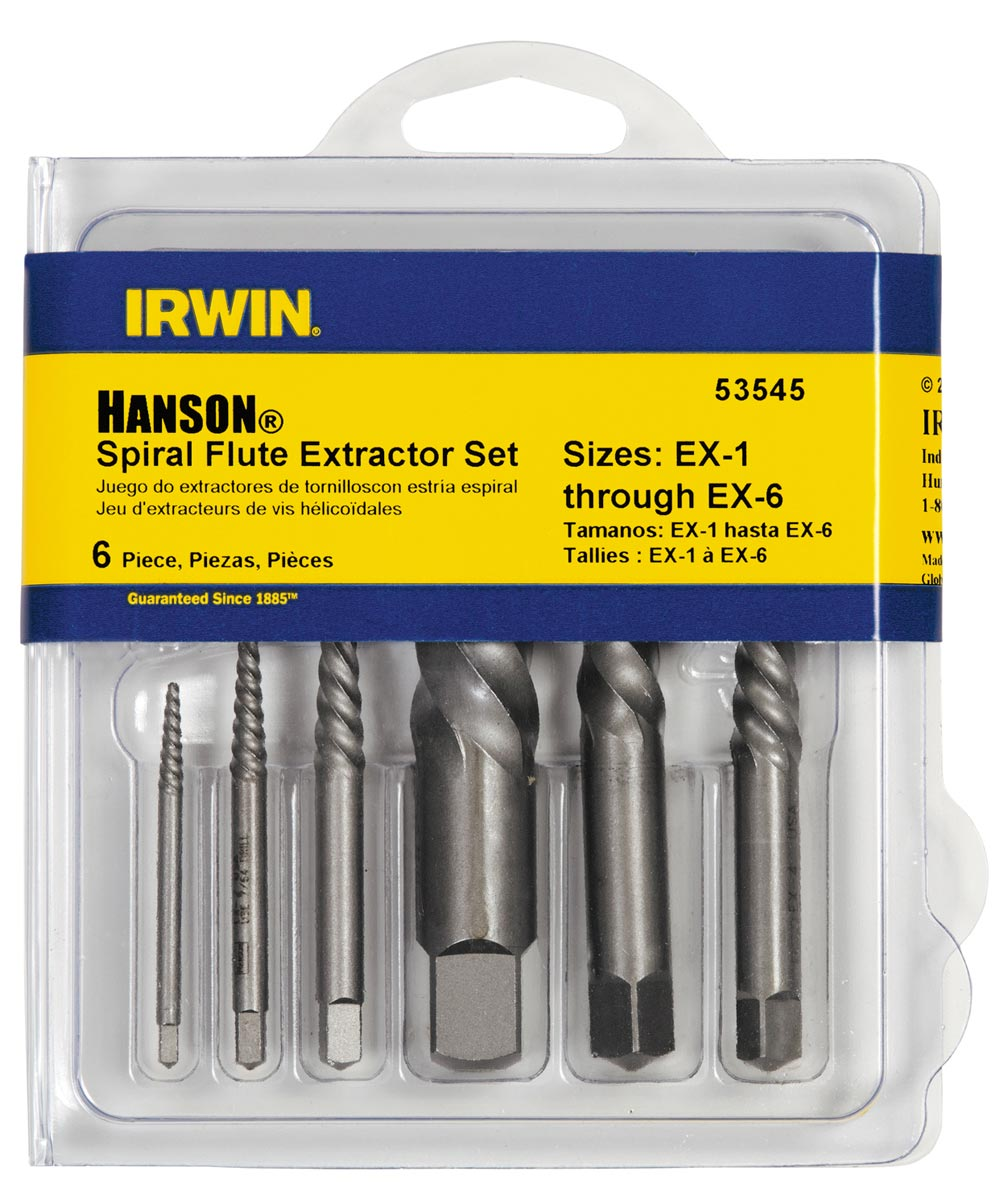 Spiral Flute Screw Extractors Set 6 Count