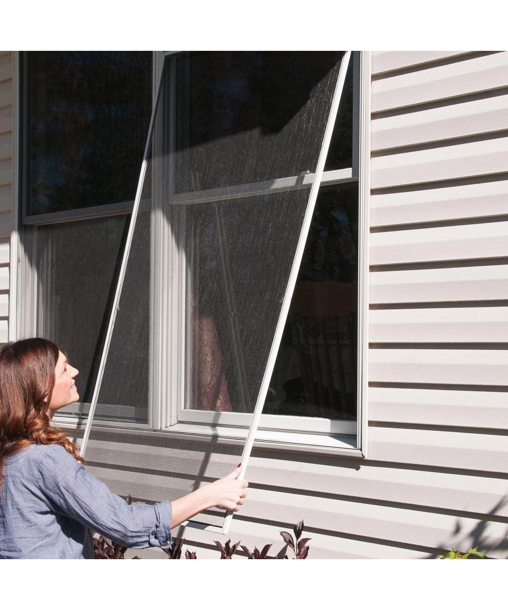 ADFORS 28 in. Wide Fiberglass Window Screen, Gray (Sold per Foot)