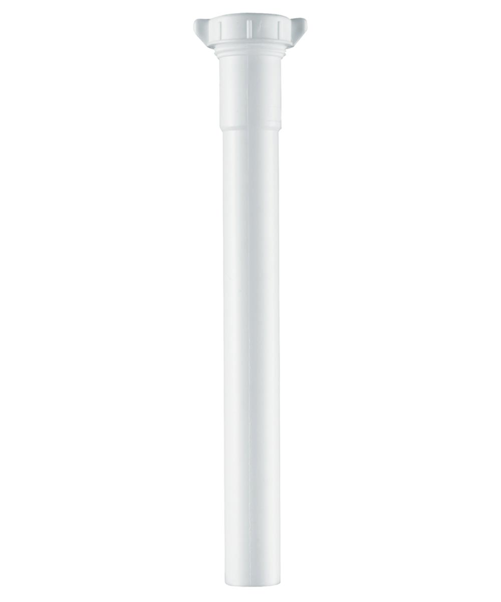 1-1/4 in. x 12 in. White Bathroom Slip Joint Extension