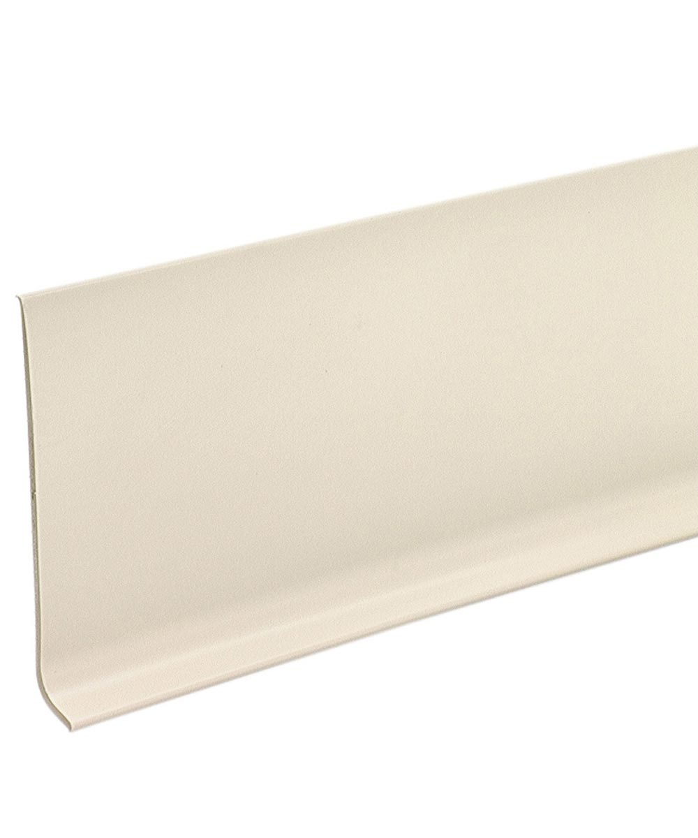4 in. x 4 ft. Almond Cove Wall Base Vinyl Strips