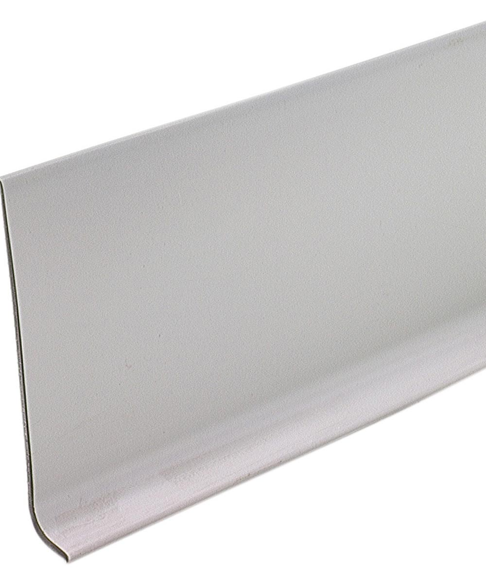 4 in. x 4 ft. Silver Gray Cove Wall Base Vinyl Strips