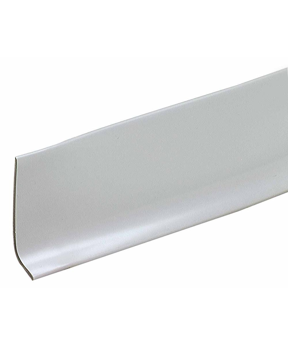 2-1/2 in. x 4 ft. Silver Gray Cove Wall Base Vinyl Strips