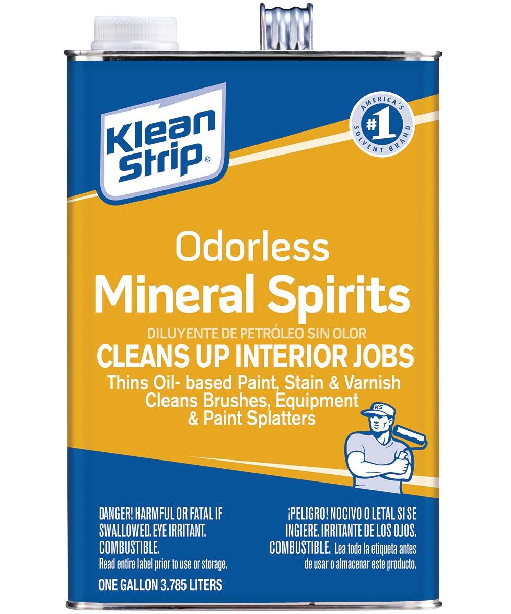Klean-Strip Mineral Spirit, 1 gal Can, Colorless to Light Yellow, Liquid