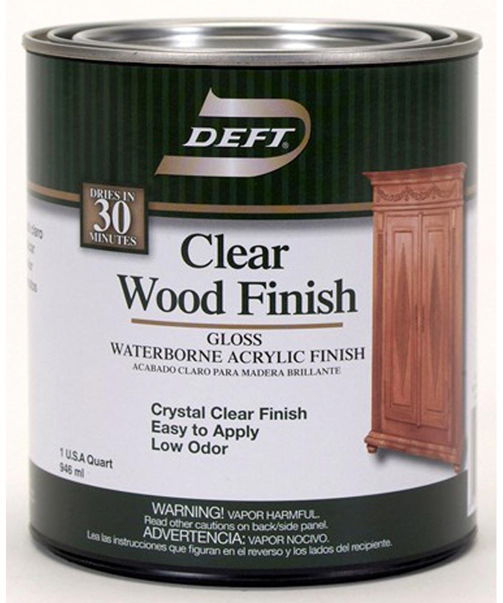 1 Quart Gloss Waterborne Clear Wood Finish