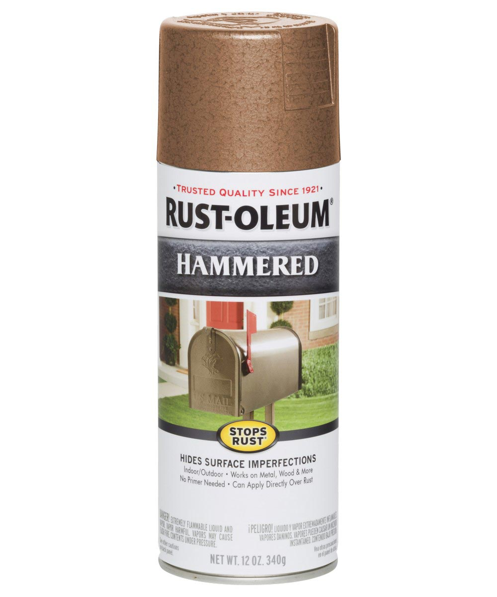 Stops Rust Hammered Spray, 12 oz Spray Paint, Copper