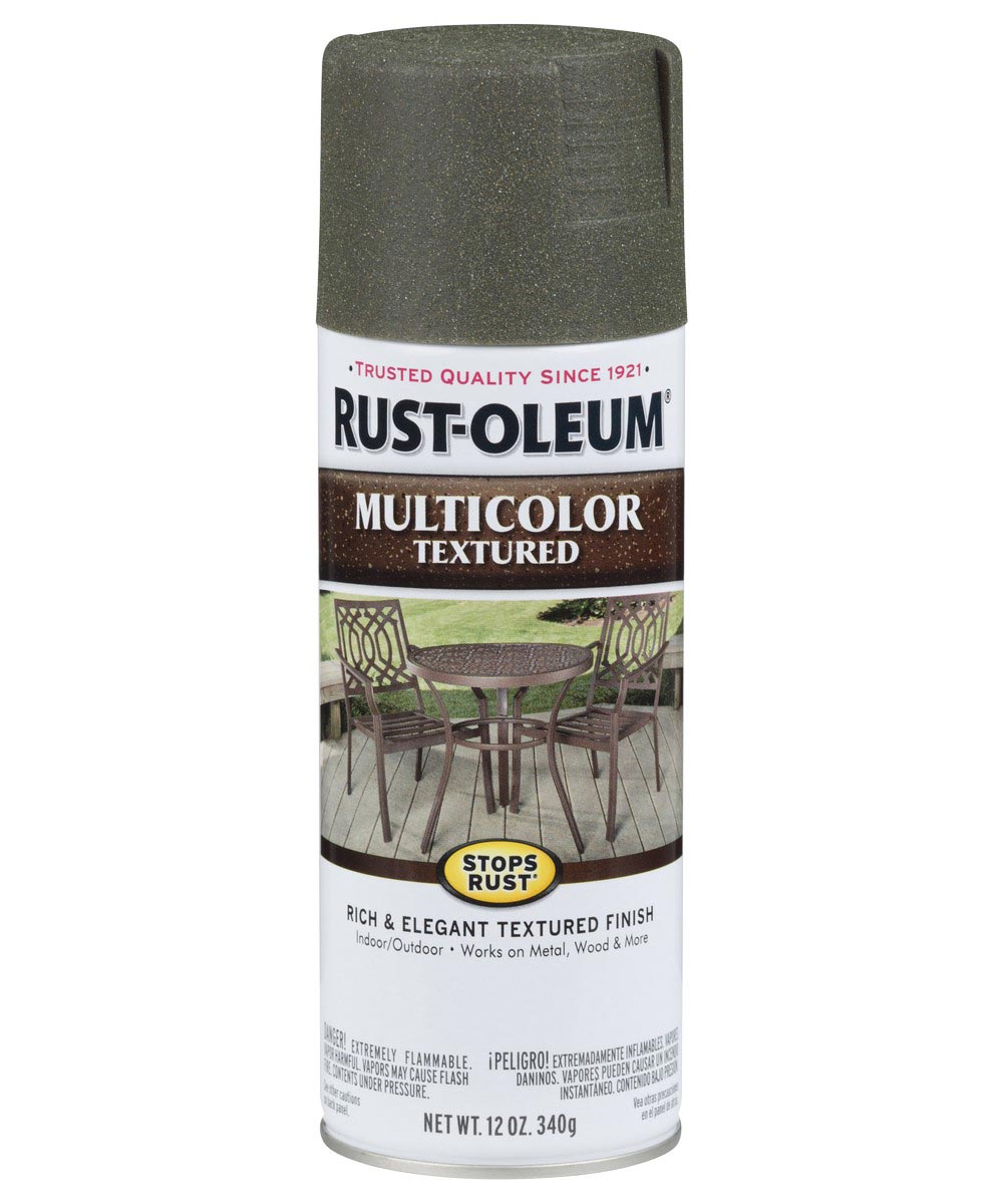 Stops Rust MultiColor Textured Spray, 12 oz Spray Paint, Deep Forest