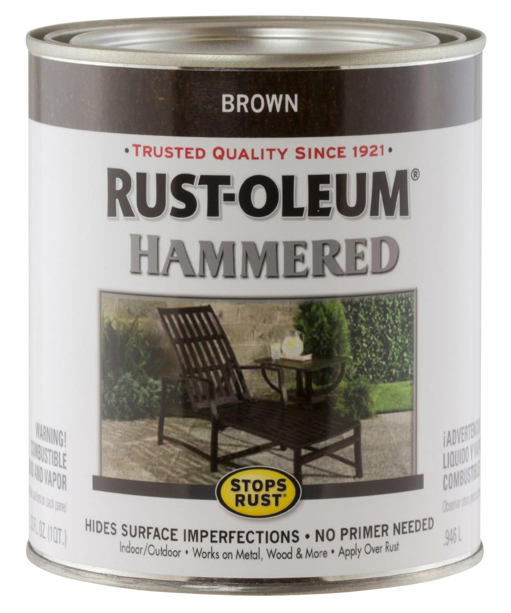 Stops Rust Hammered, Quart, Brown