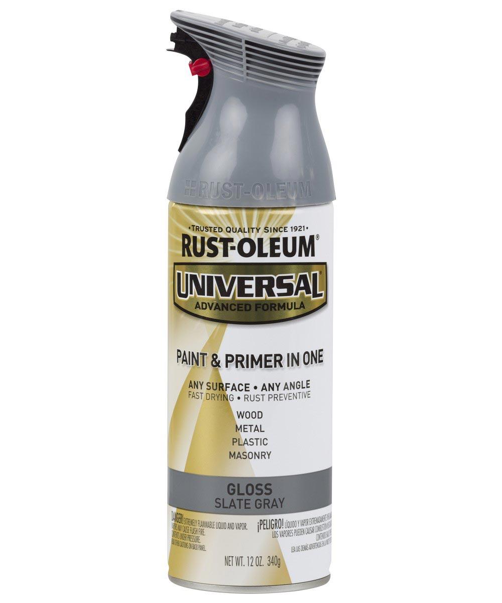 Universal Gloss Spray Paint, 12 oz Spray Paint, Gloss Slate Gray