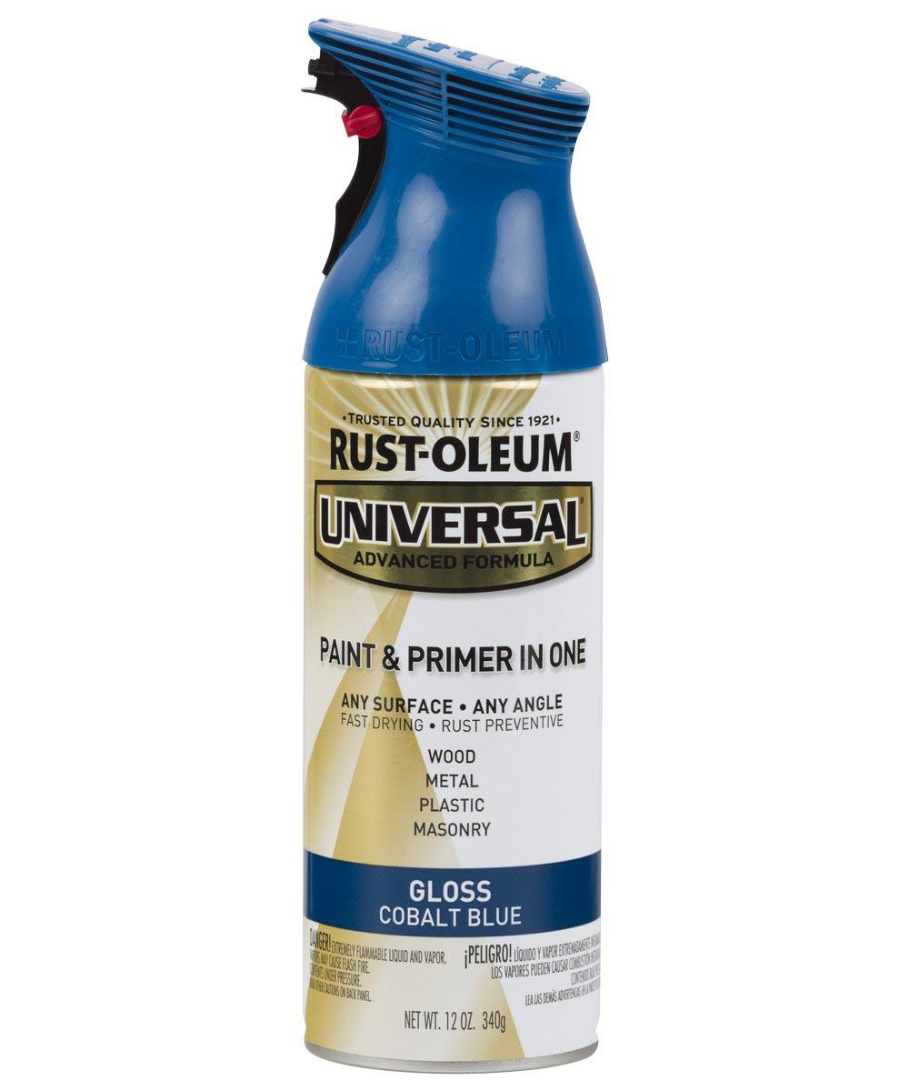 Universal Gloss Spray Paint, 12 oz Spray Paint, Gloss Cobalt Blue