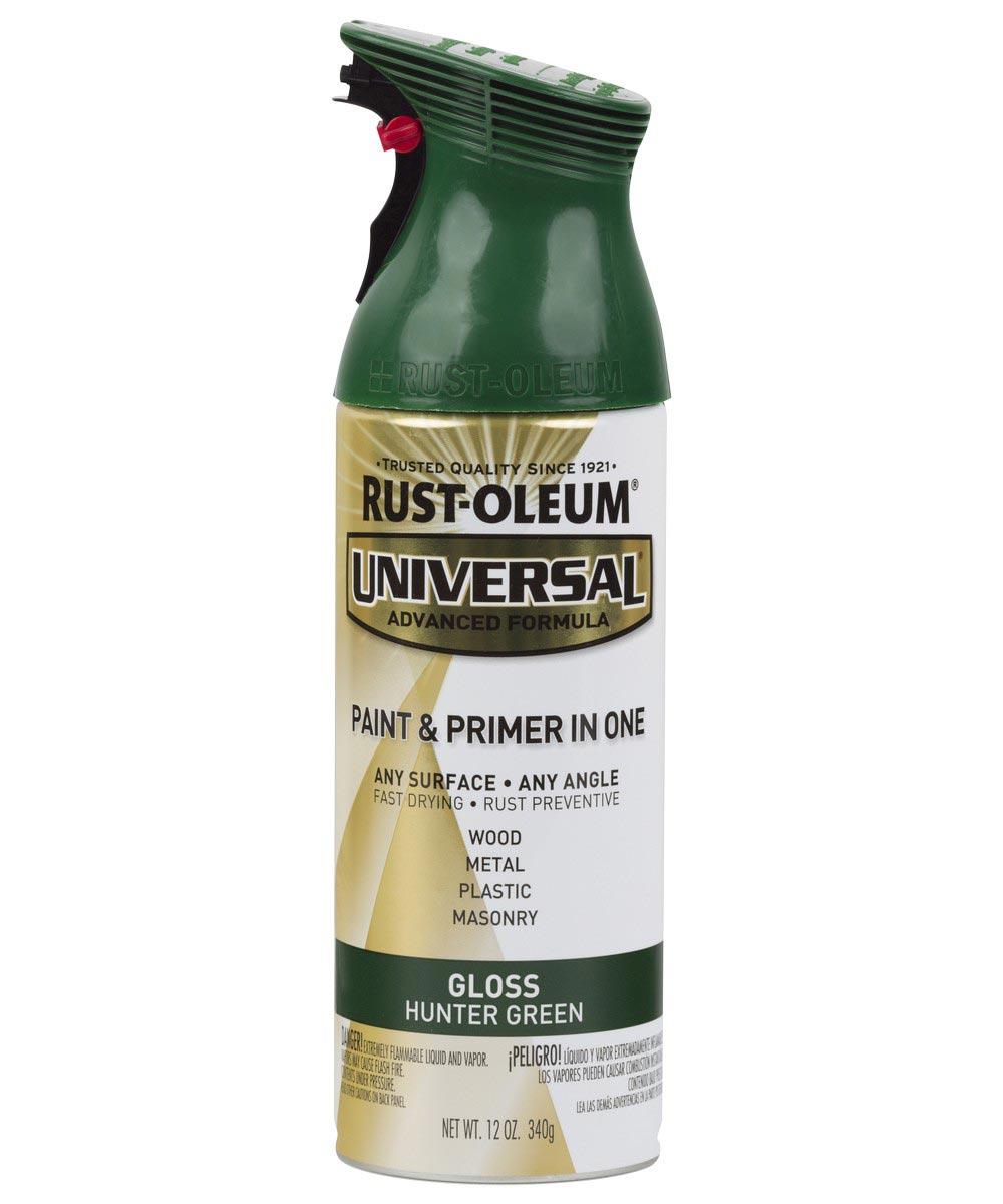 Universal Gloss Spray Paint, 12 oz Spray Paint, Gloss Hunter Green