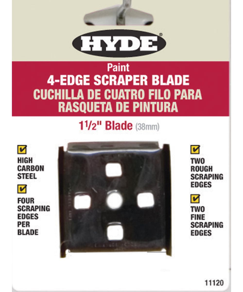 Tools Paint Scraper Blades, 4-Edge - Carbon Steel, 1-1/2 In. Wdth