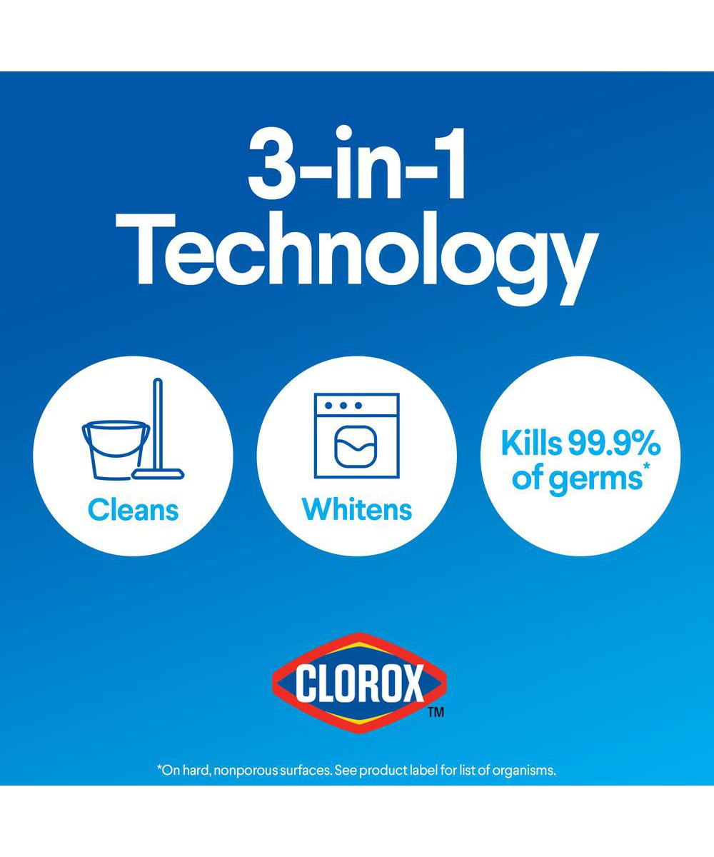 Clorox Regular Bleach Disinfectant with CLOROMAX, 64 oz.