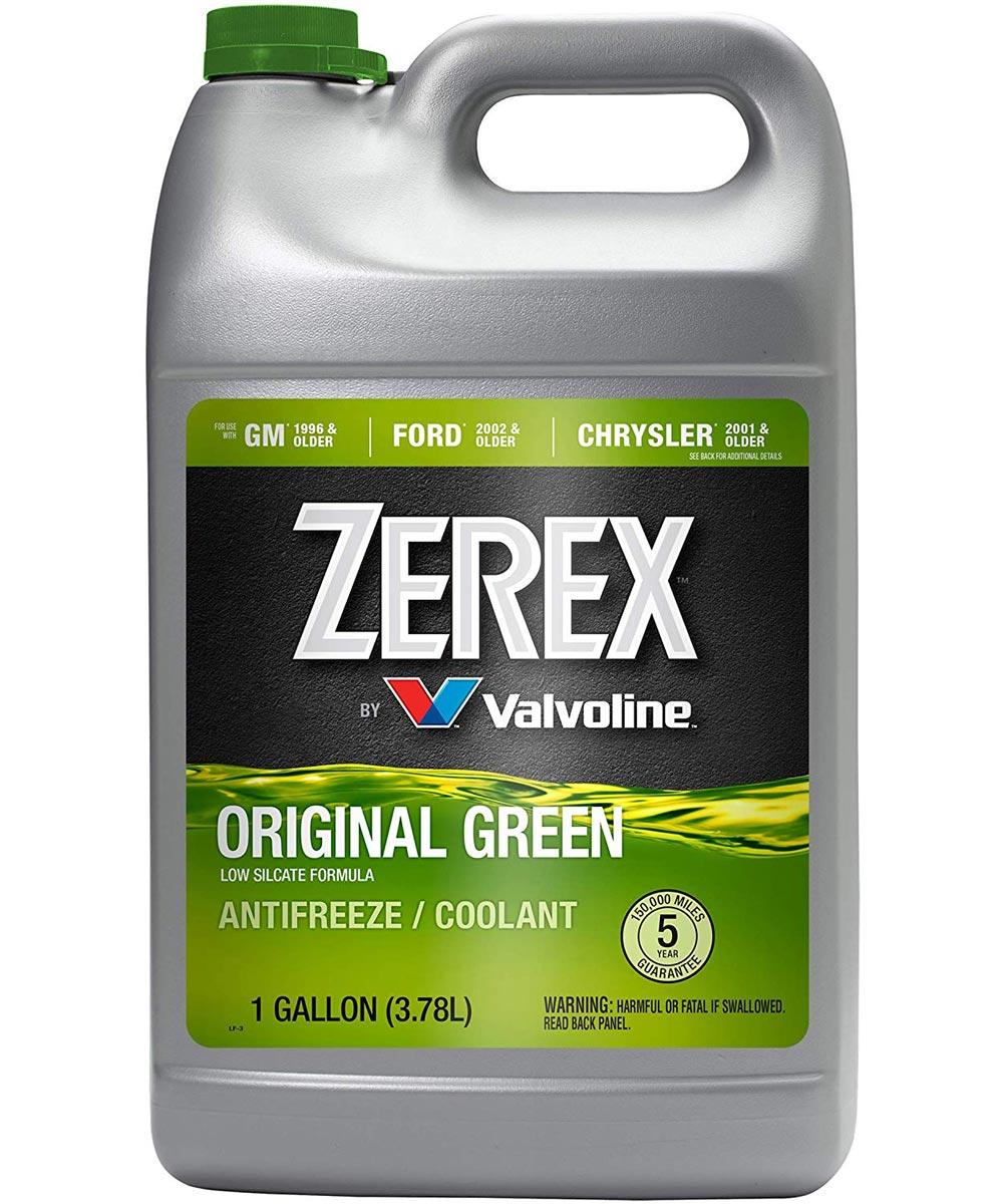 Valvoline Zerex 1 Gallon Original Green 50/50 Prediluted Ready To Use Antifreeze Coolant